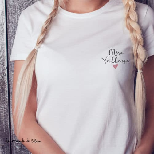 T-shirt cadeau Mère veilleuse