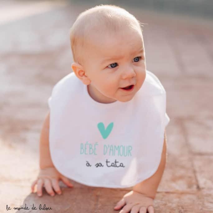 Bavoir personnalisable Bébé d'amour