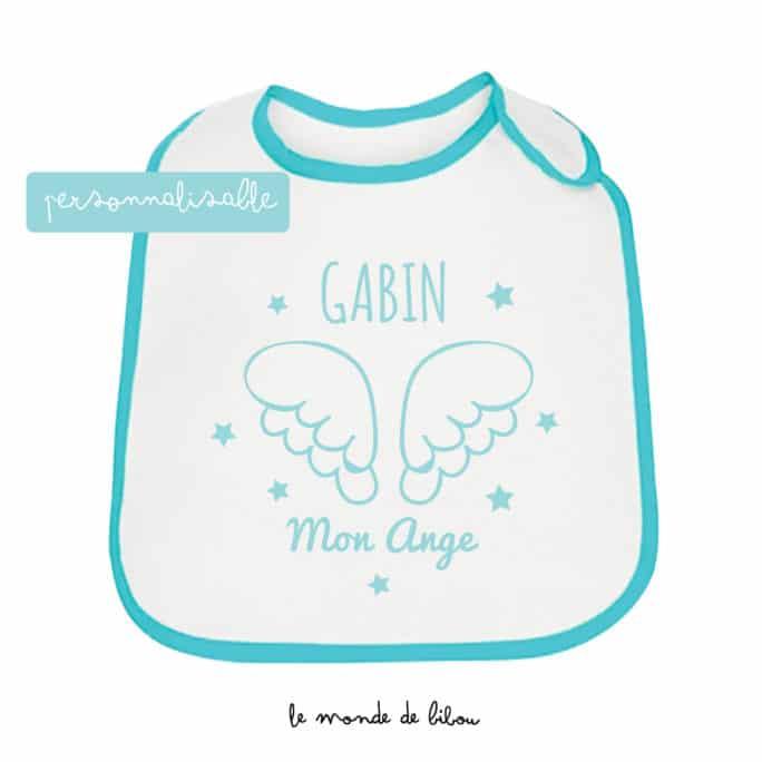 Bavoir personnalisable Petit ange bleu