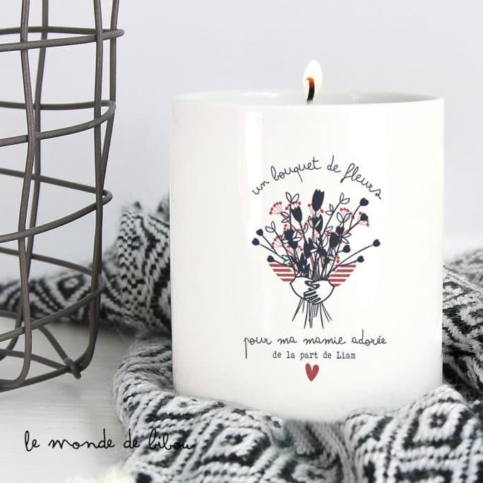 Bougie Bouquet de fleurs pour mamie