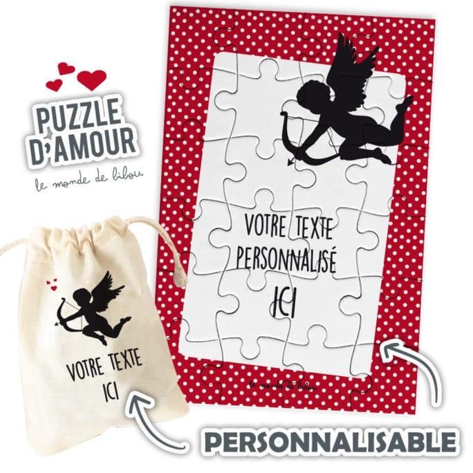 Puzzle personnalisable des Amoureux