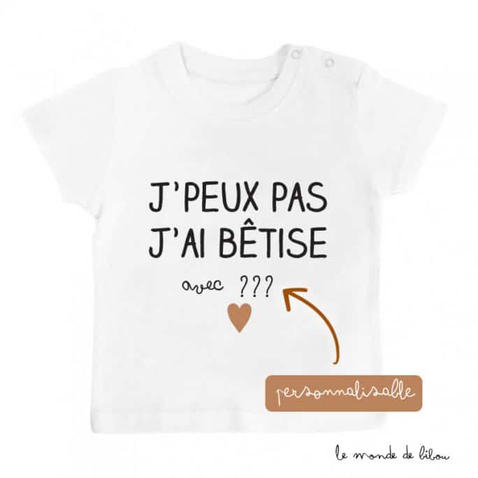 T-Shirt bébé Bêtises avec