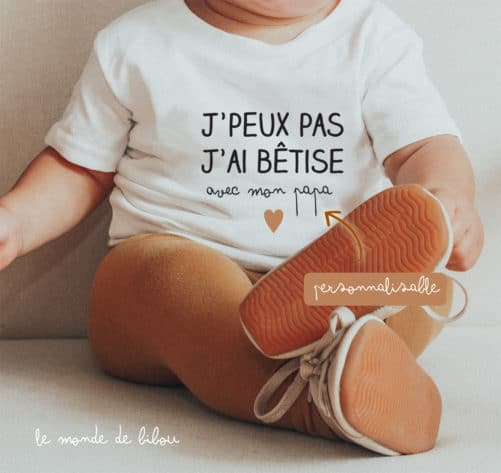 T-Shirt bébé Bêtise avec