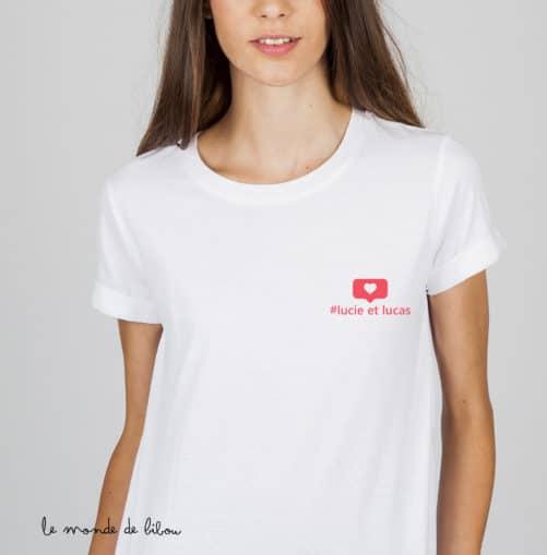 T-shirt Instagram femme
