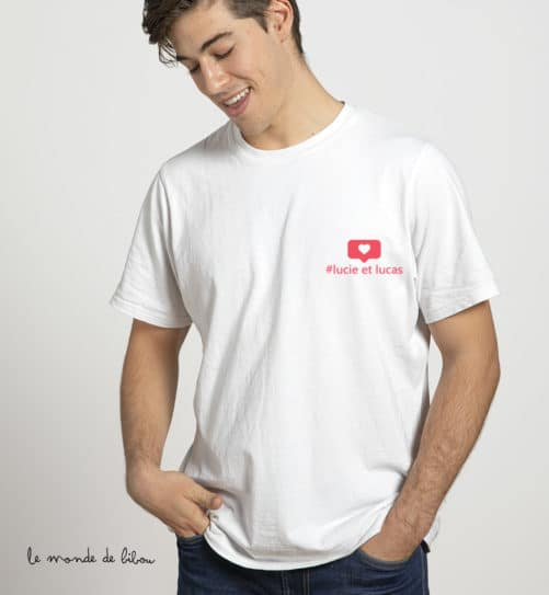 T-shirt Instagram homme
