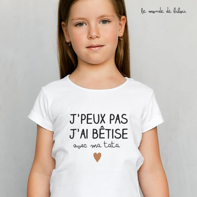 T-Shirt enfant Bêtise avec