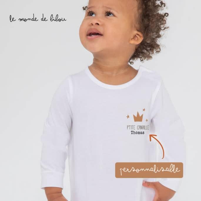Pyjama bébé Petite couronne personnalisable