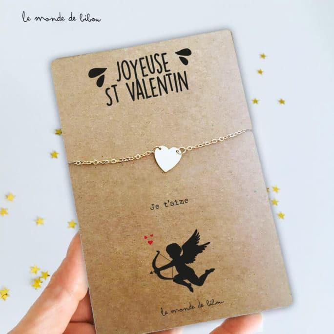 Carte bijou des amoureux Cupidon