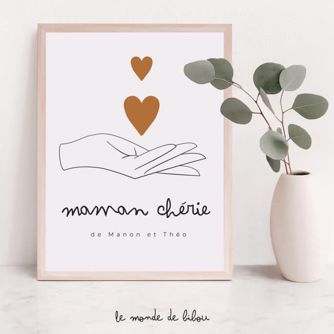 Affiche personnalisée Maman chérie