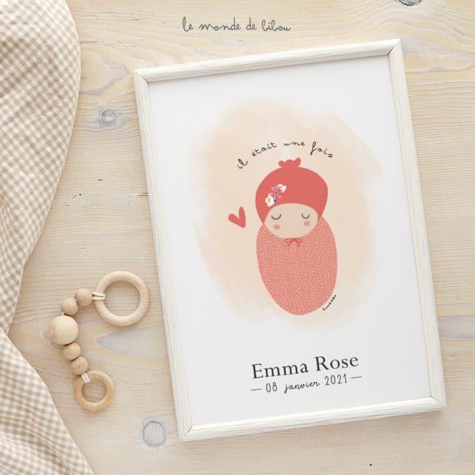 Affiche Naissance personnalisable bébé