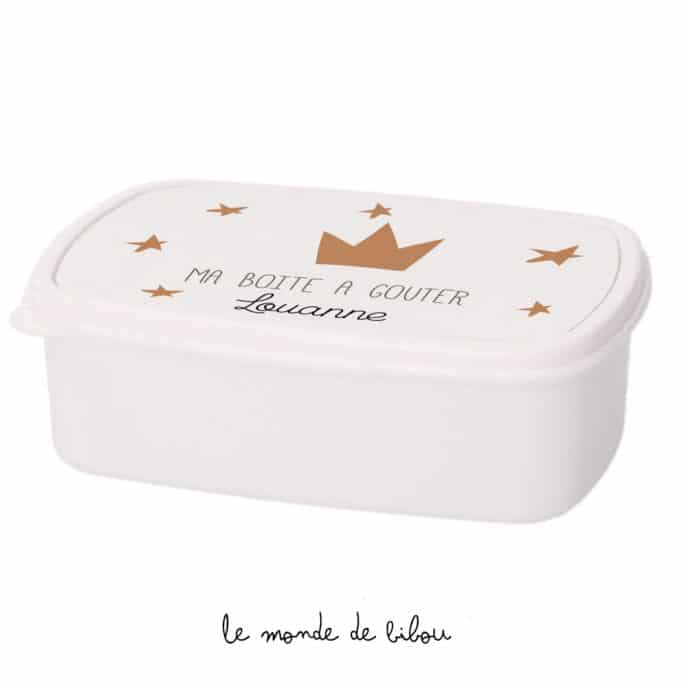 Boîte à Goûter personnalisée Petite couronne