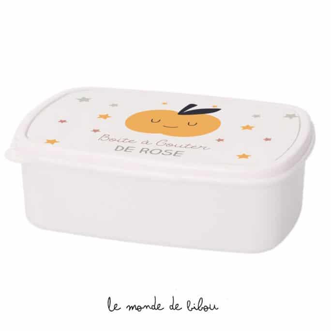 Boîte à Goûter personnalisée Pomme