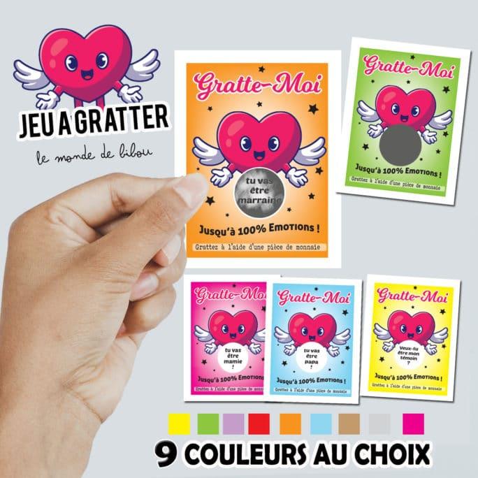 Ticket à gratter personnalisé Cœur