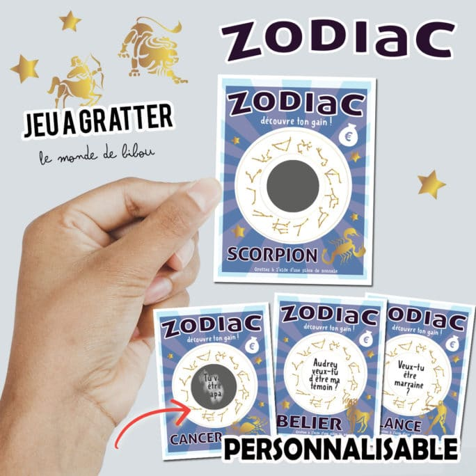 Ticket jeu à gratter Zodiac