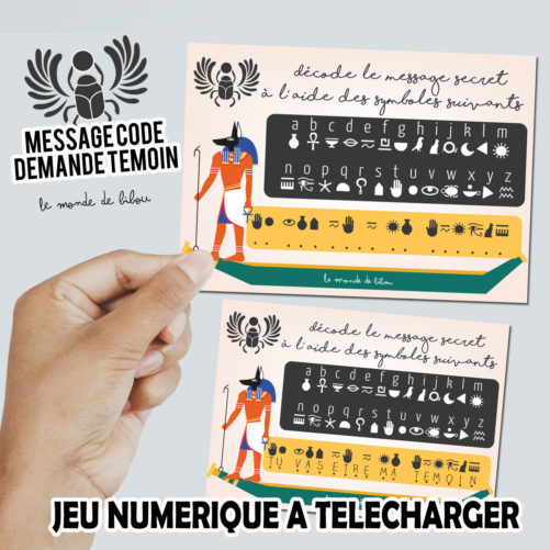 Carte numérique message codé Témoin femme à télécharger