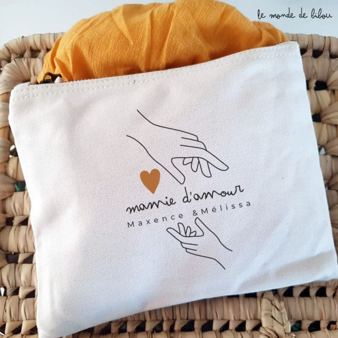 Pochette personnalisé Mamie d'amour