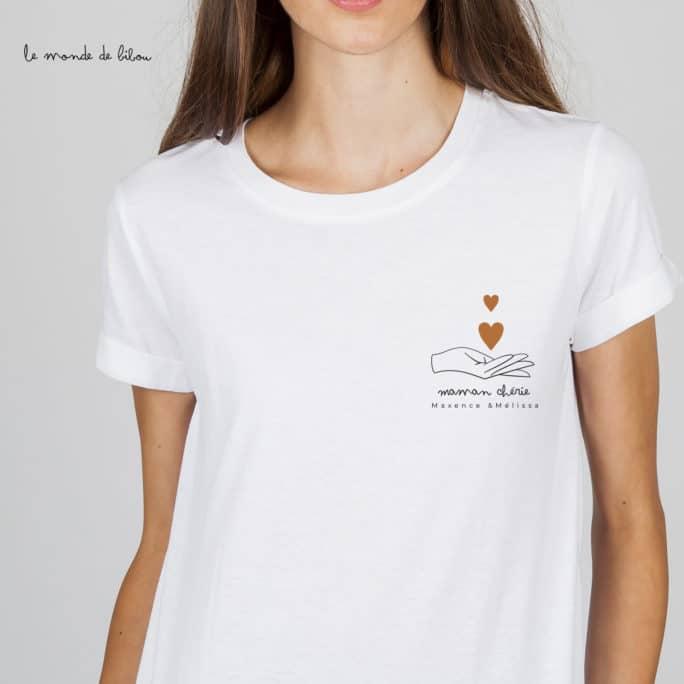 T-shirt personnalisé Maman chérie