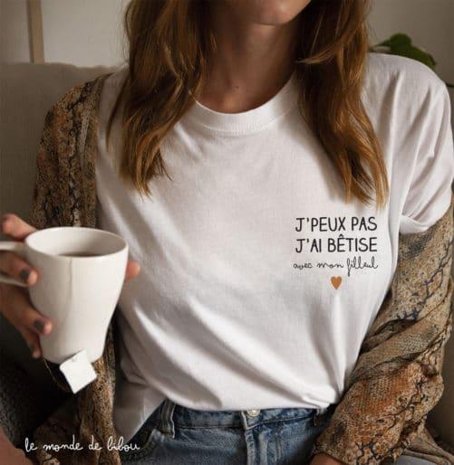 T-shirt adulte Bêtise avec
