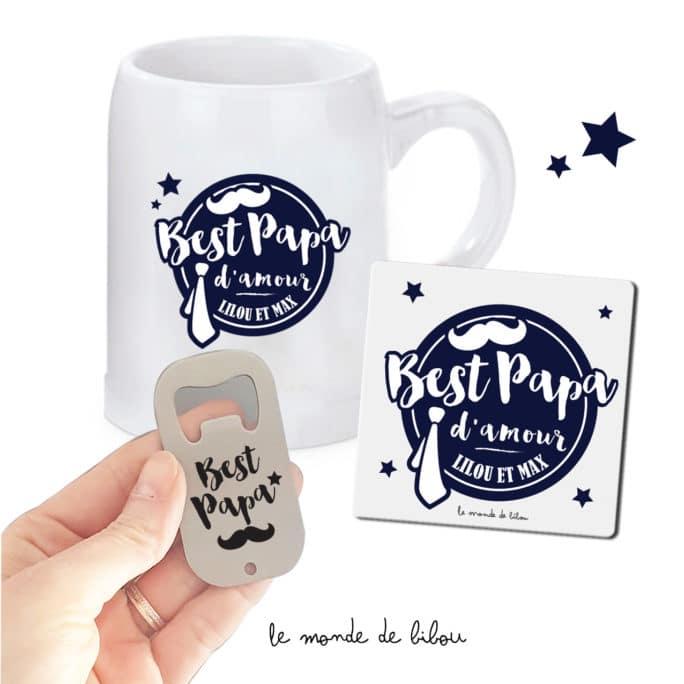 Kit personnalisé Best papa d'amour