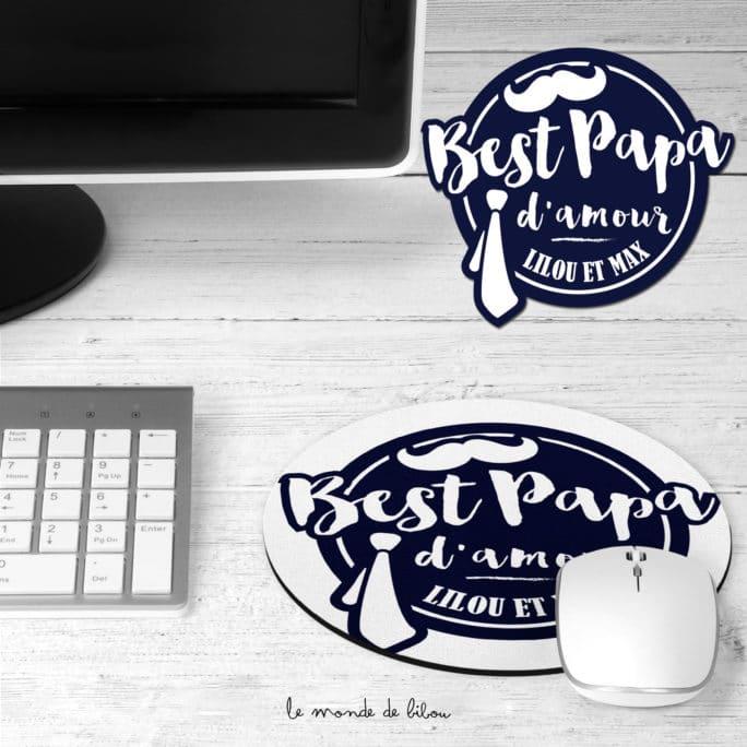 Tapis de souris Best Papa