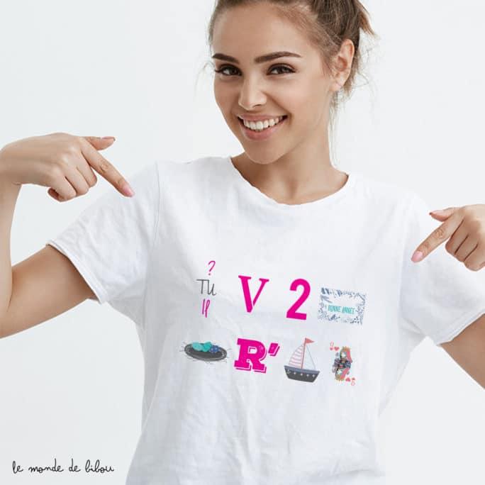 T-shirt Rébus marraine surprise