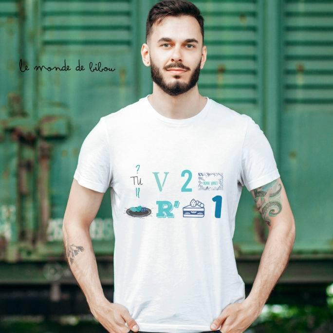 T-shirt Rébus parrain surprise