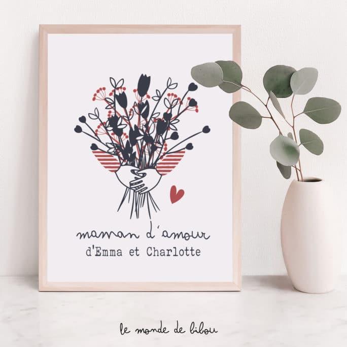 Affiche Bouquet de fleurs pour maman