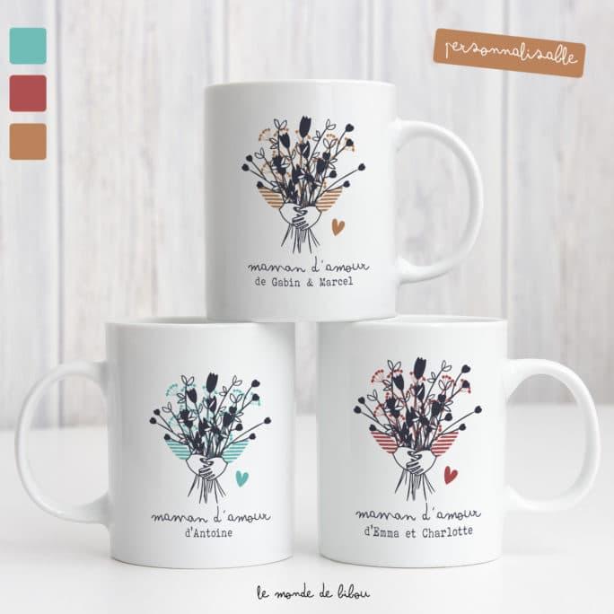 Mug Bouquet de fleurs pour maman