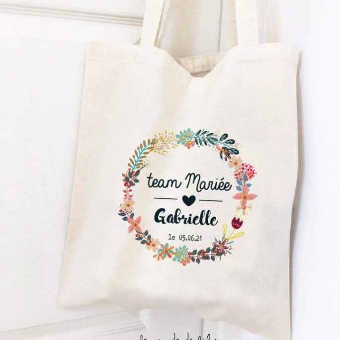Tote bag EVJF Team de la mariée
