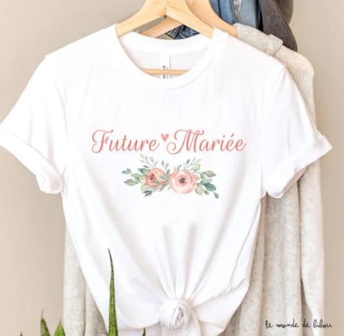 T-shirt Future mariée Fleurs