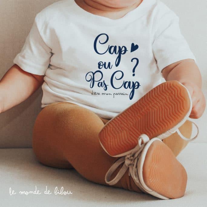 T-shirt bébé Cap ou pas Parrain