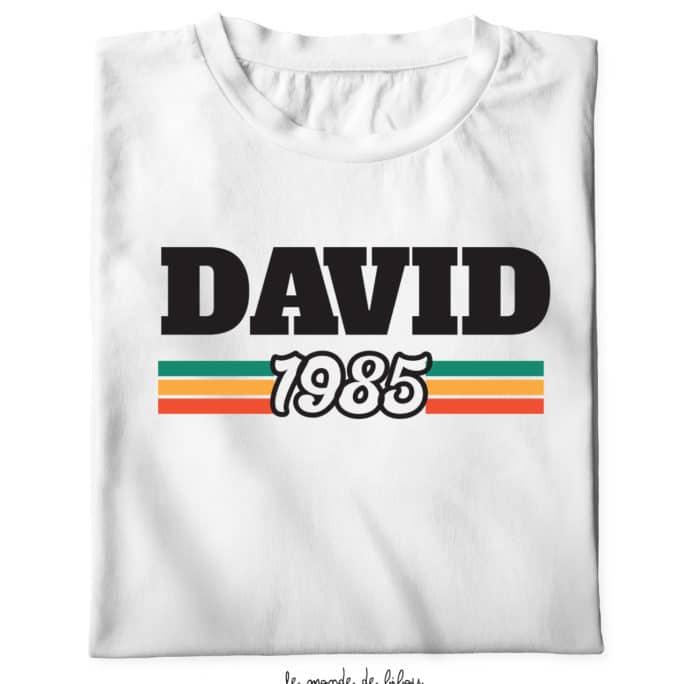 Duo T-shirts années naissance