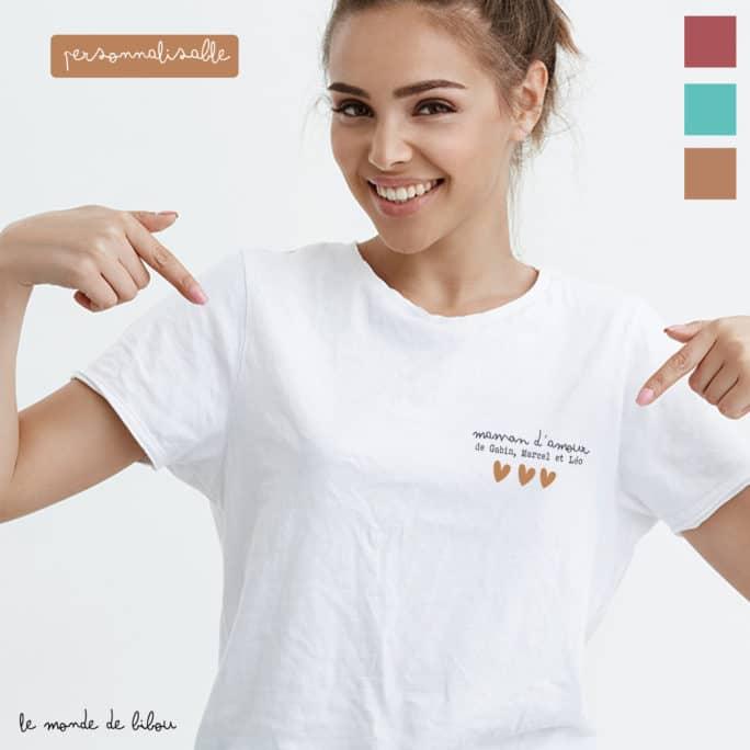 T-shirt personnalisé Maman d'amour