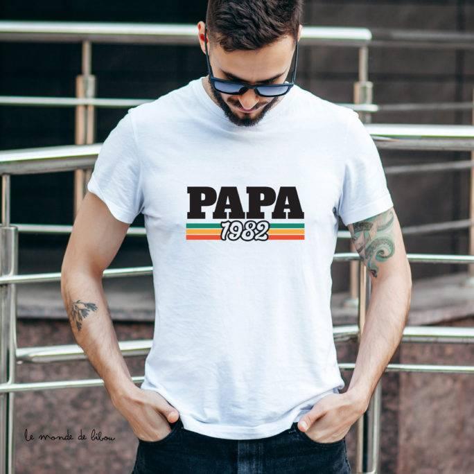 T-shirt adulte homme année de naissance