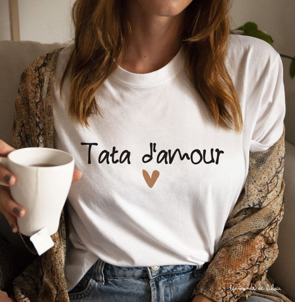 T-shirt Tata d'amour