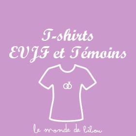 T-shirt EVJF, témoins