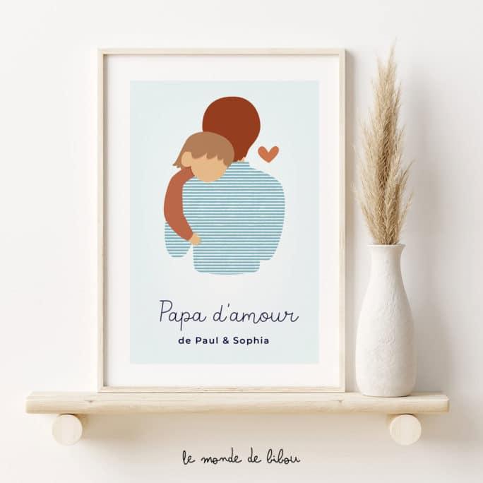 Affiche personnalisée Papa d'amour