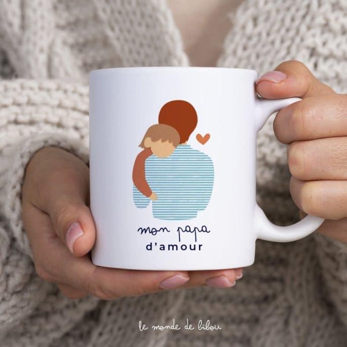 Mug personnalisé Papa d'amour