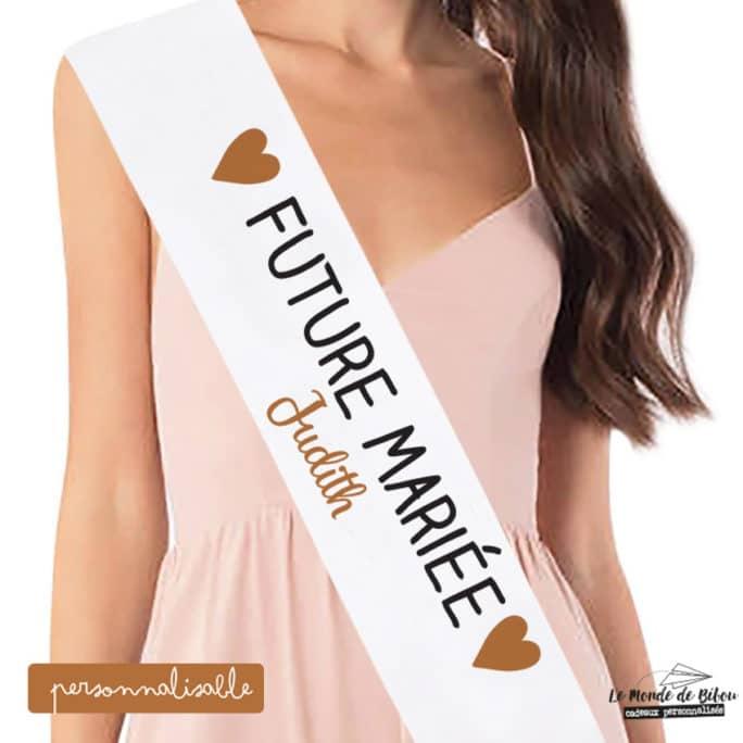 Écharpe miss Future mariée
