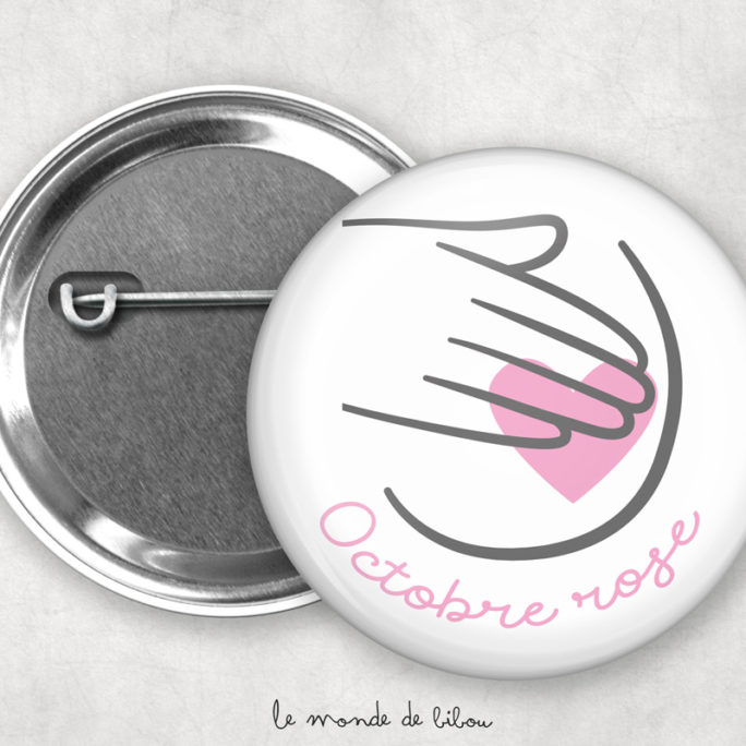 Badge Octobre rose 2021