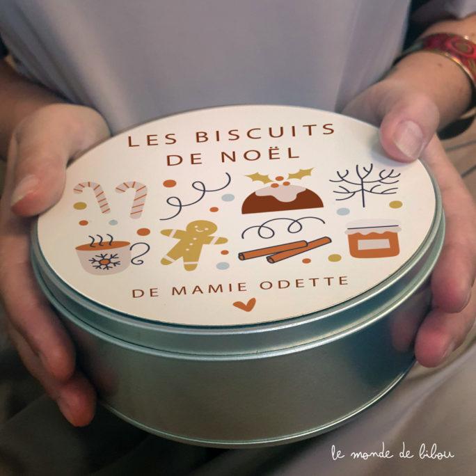 Boîte à biscuits de Noël personnalisée