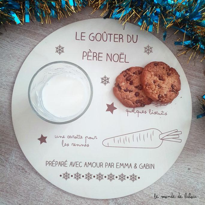 Plateau goûter du Père Noël personnalisé