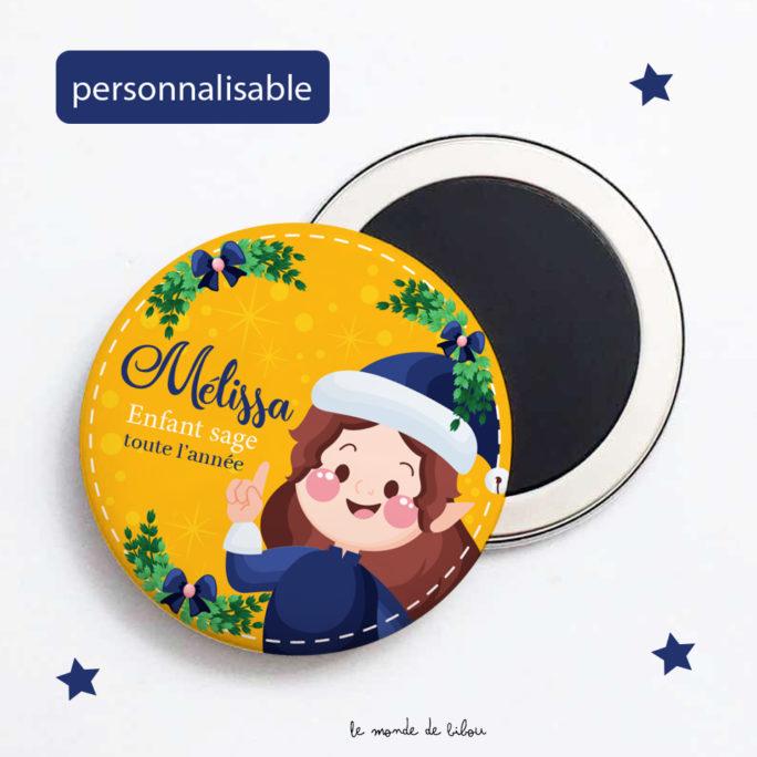 Magnet de Noël personnalisé Lutin