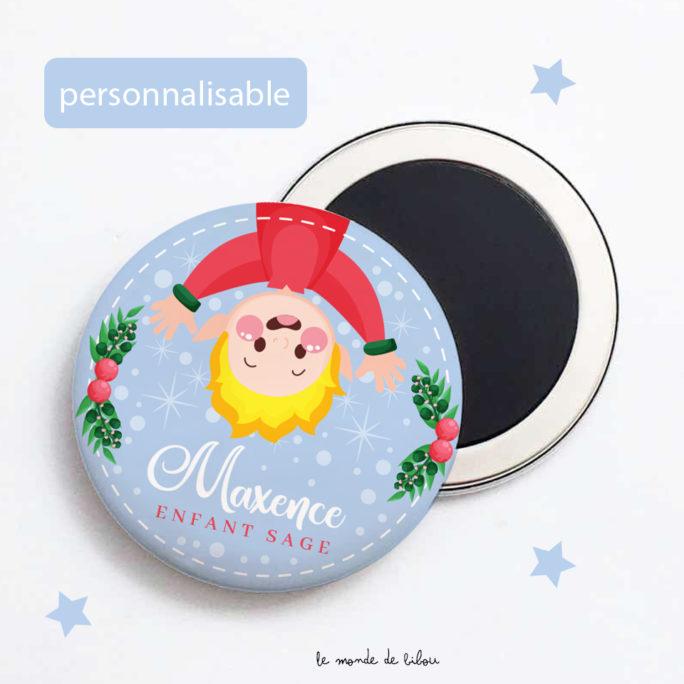 Magnet de Noël personnalisé