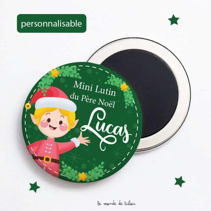 Magnet de Noël Lutin personnalisé