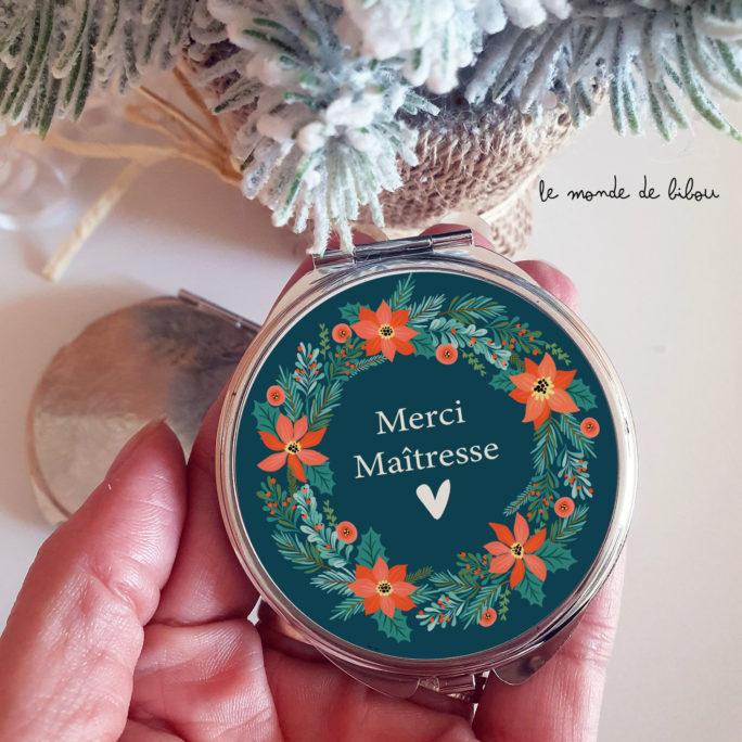Miroir maîtresse Couronne de Noël