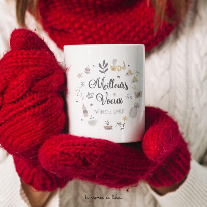 Mug de Noël Maîtresse et Nounou